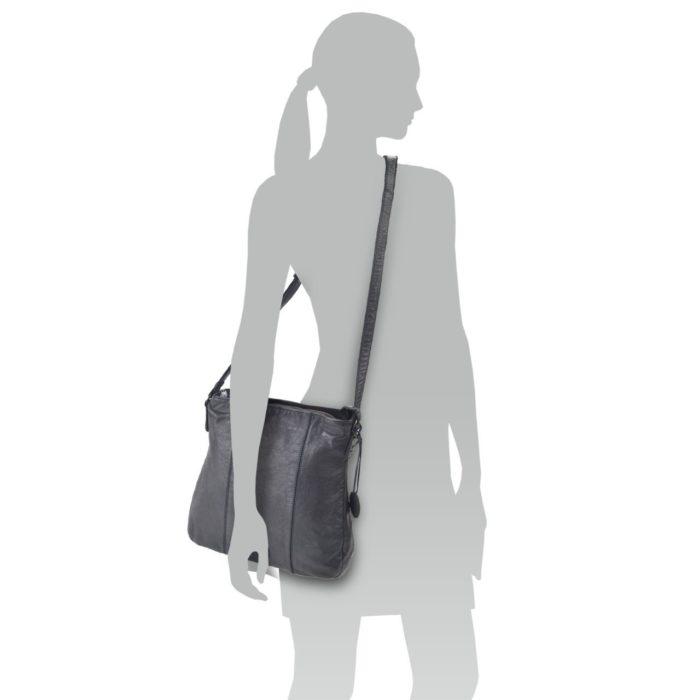 Kožená kabelka černá – NB 2002 C