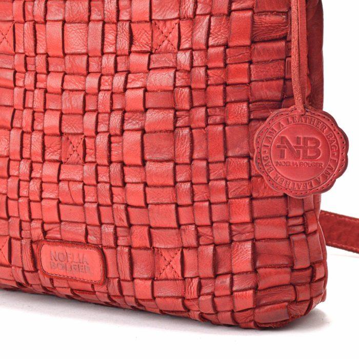 Kožená kabelka červená – NB 2013 CV