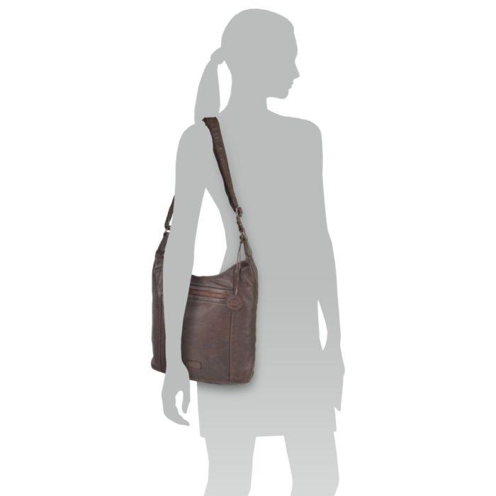 Kožená kabelka hnědá – NB 2005 H