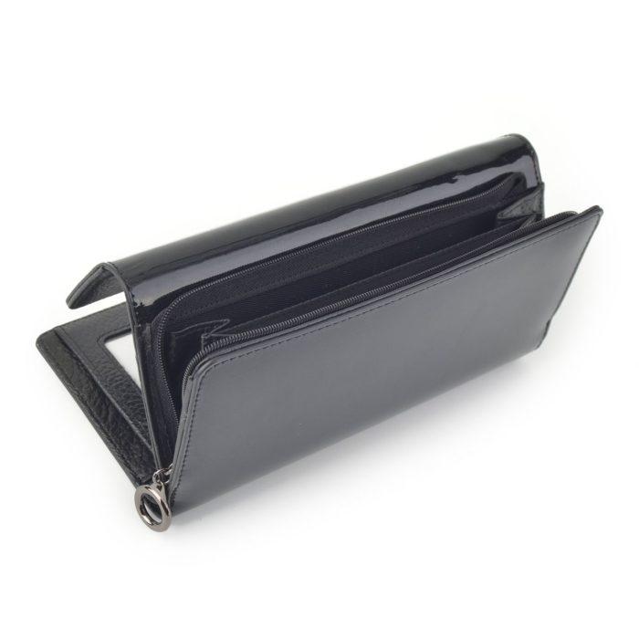 Kožená lakovaná peněženka antracitová – 2103 G ANT