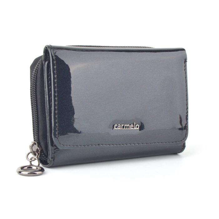Kožená lakovaná peněženka antracitová – 2105 G ANT