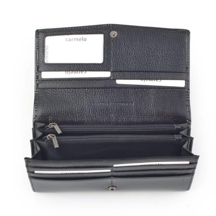 Kožená lakovaná peněženka antracitová – 2109 G ANT