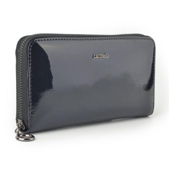 Kožená lakovaná peněženka antracitová – 2111 G ANT