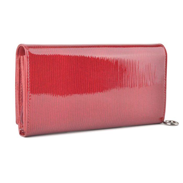 Kožená lakovaná peněženka bordó – 2100 F BO