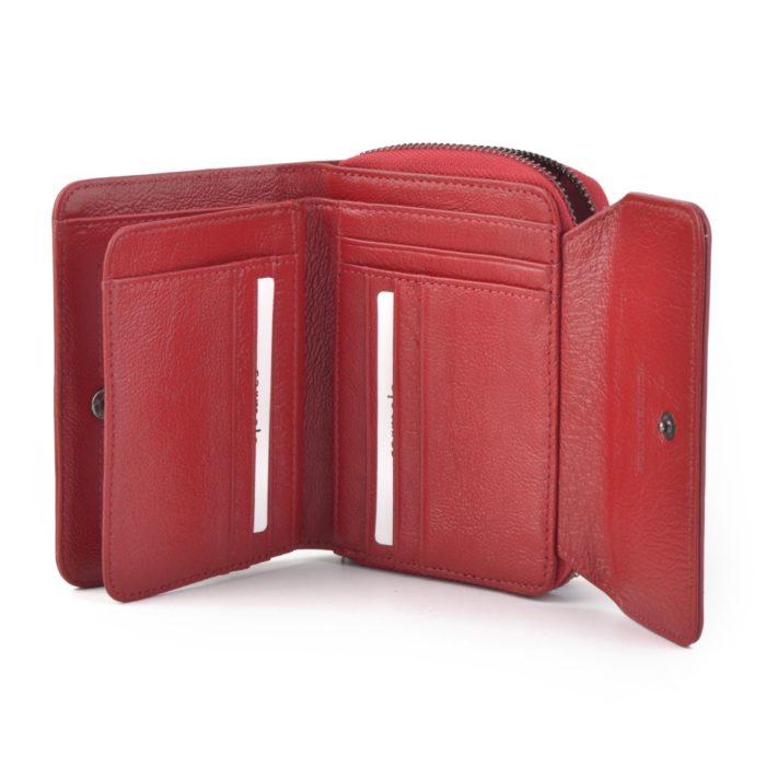 Kožená lakovaná peněženka červená – 2104 H CV