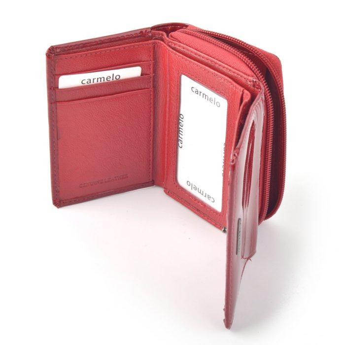 Kožená lakovaná peněženka červená – 2105 H CV