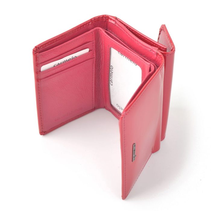 Kožená lakovaná peněženka fuchsia – 2106 G F