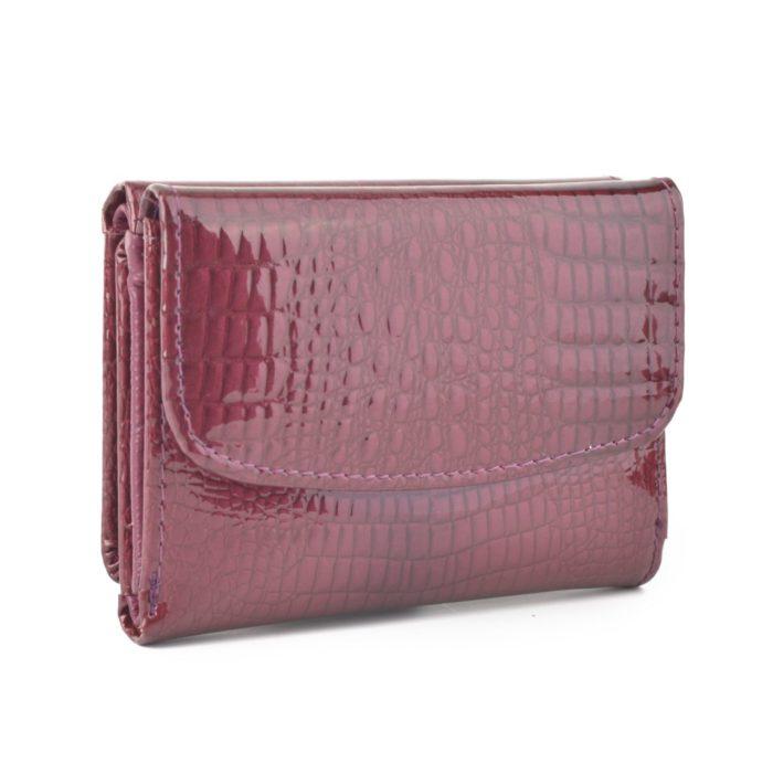 Kožená lakovaná peněženka lila – 2106 A LI