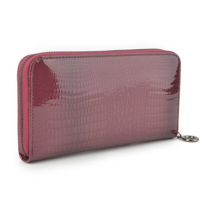 Kožená lakovaná peněženka lila – 2111 A LI