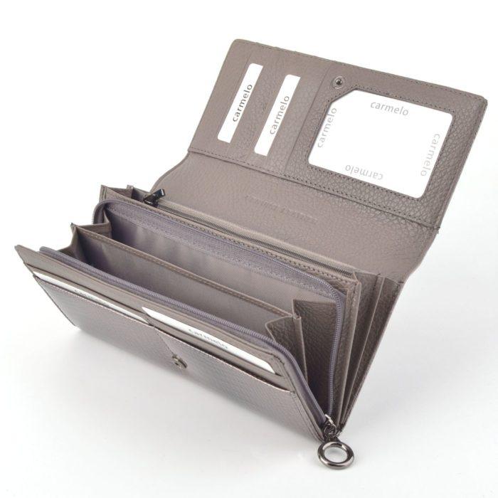 Kožená lakovaná peněženka šedá – 2100 A S
