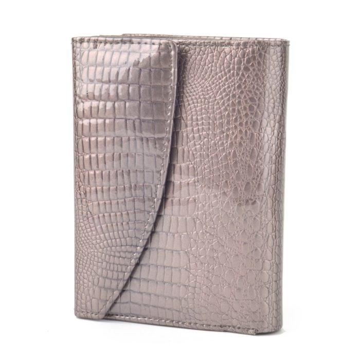 Kožená lakovaná peněženka šedá – 2108 A S