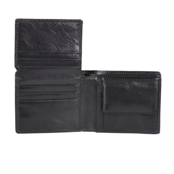 Pánská kožená peněženka černá Cosset – 4504 Komodo C