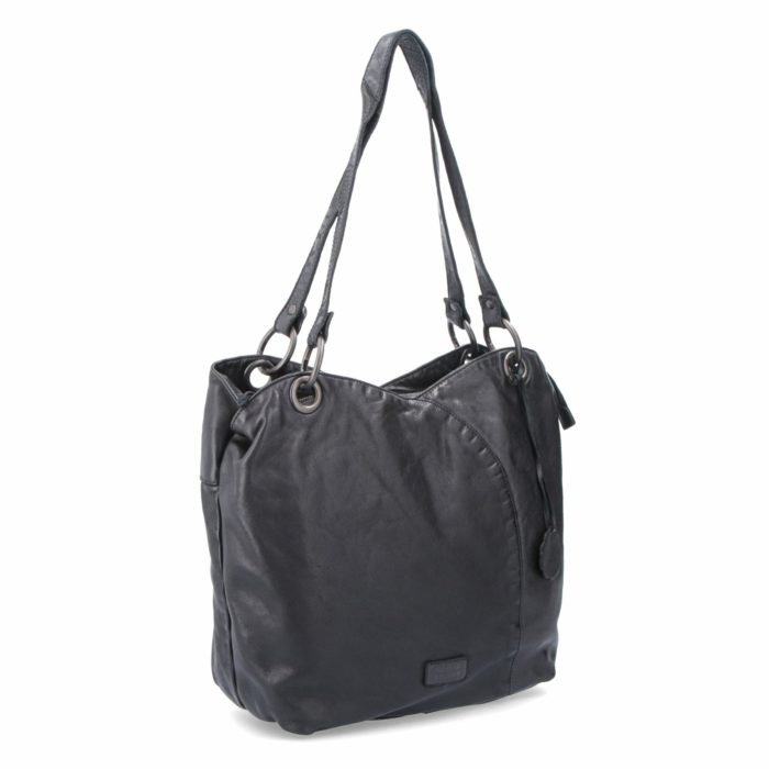 Kožená kabelka černá – NB 2011 C