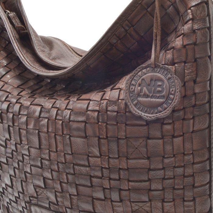Kožená kabelka hnědá – NB 2012 H