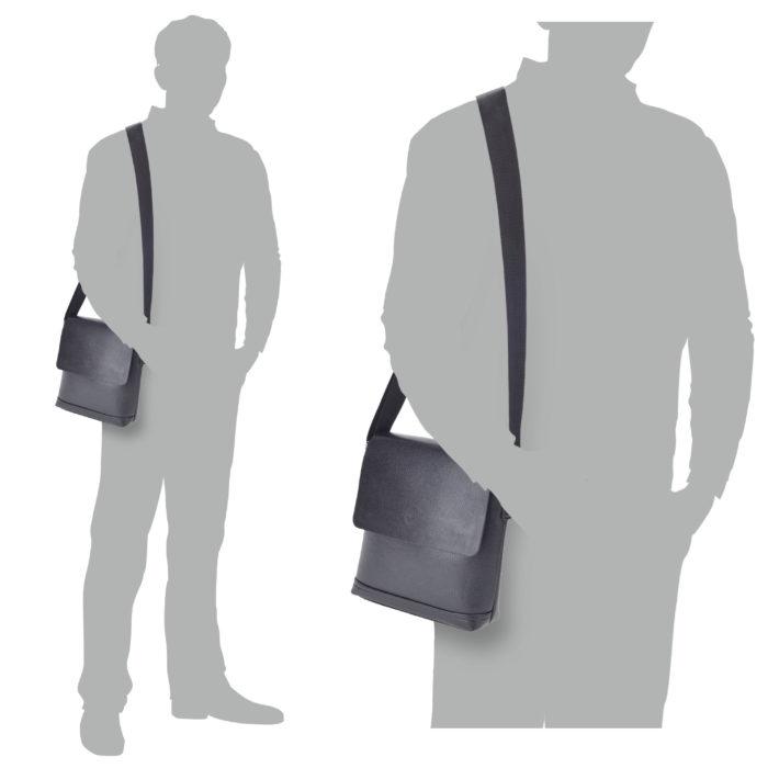 Pánská taška černá Tangerin – 2301 C