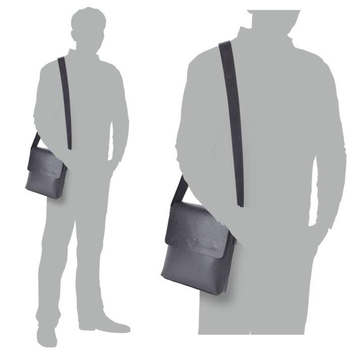 Pánská taška černá Tangerin – 2302 C