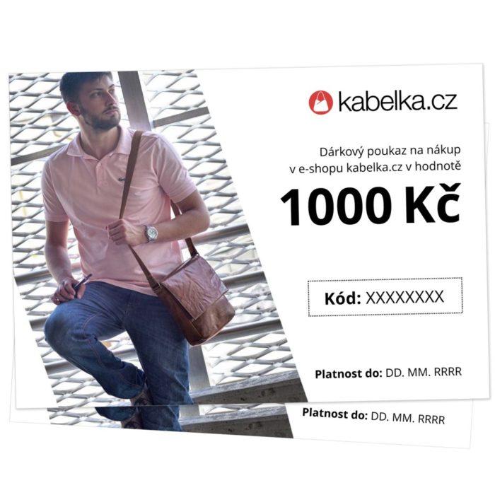 Dárkový poukaz 1000 Kč - Kabelka.cz