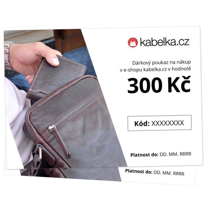 Dárkový poukaz 300 Kč - Kabelka.cz