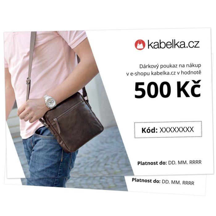 Dárkový poukaz 500 Kč - Kabelka.cz